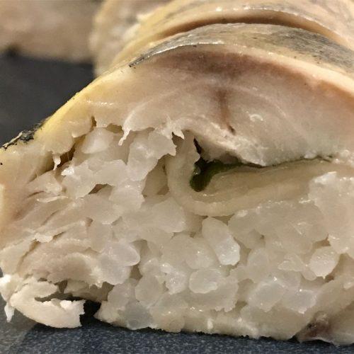 Battera mackerel sushi: ©️ Nel Brouwer-van den Bergh