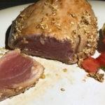 pan-seared tuna steak